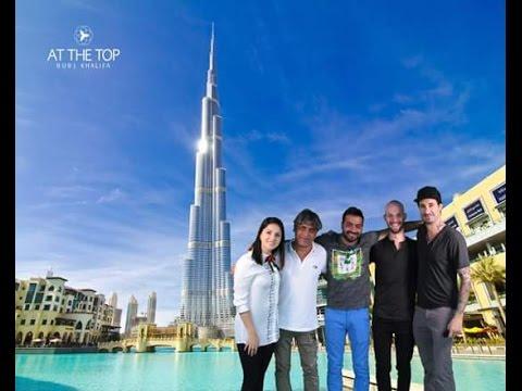 Sunny Leone in DUBAI at BURJ KHALIFA With Husband and Friends
