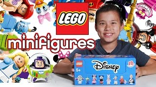 LEGO DISNEY MINIFIGURES!!! EvanTubeHD Blind Bag UNBOXING!