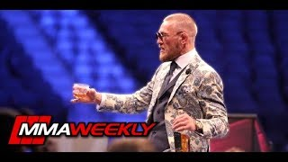 Conor McGregor Breaks Down the Fight With a Drink  (FULL Post Press Remarks)