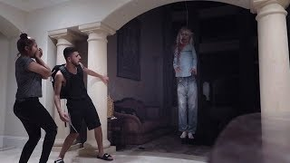 POSSESSED DEMON GIRL SCARE PRANK!! (HE ALMOST GOT PUNCHED)