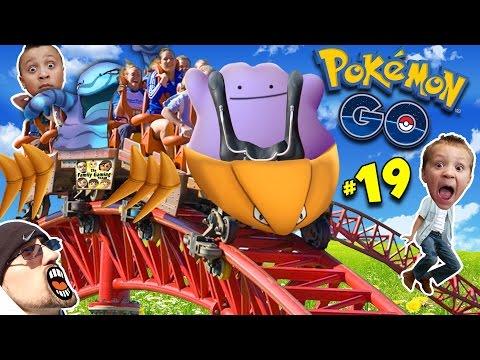 ♪ POKEMON GO DITTO SONG ♬ Kabutops Roller Coaster NEW EVOLUTIONS FGTEEV Update Gameplay 19