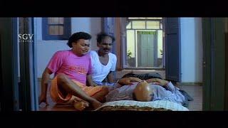 Sadhu Kokila & Biradar hiding dead body from Doddanna | Kannada Comedy Scenes |Ganesha Banda Yenen..