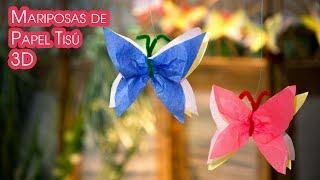 Mariposas de Papel Tisu 3D para Decoracion y Guirnaldas
