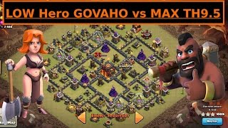 Low Hero GoVaHo. Valkyrie + Hogs TH9. 3 STAR WAR Attack. Clash of Clans