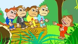 Cinco Macaquinhos (Five little Monkeys)  + 30 Minutos de Musica Infantil