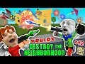 Download Video ROBLOX Destroy the Neighborhood w/ Airplane? AWESOME a 💩 Bomb! (FGTEEV Get Rich Destruction #42) 3GP MP4 FLV