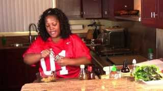 Super Bowl Recipes: Stuffed Bacon Cheese Burgers & Baked Ginger Sesame Wings (Cooking With Carolyn)
