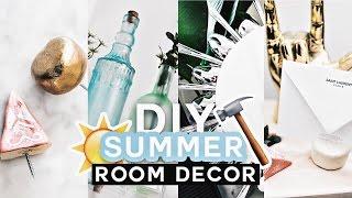 DIY Summer Room Decor (Tumblr Inspired) 2017 - Minimal & COLORFUL - Imdrewscott