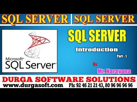 Sql Server tutorial || onlinetraining||Sql Server ||Introduction  Part - 1 by Narayana