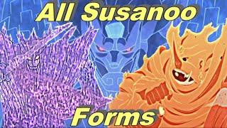 All Susanoo Forms - Itachi,Sasuke,Madara,Kakashi,Shisui & Indra