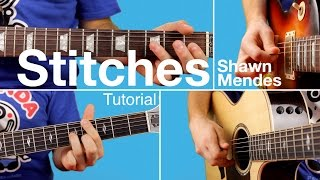► Stitches - Shawn Mendes (Guitar Lesson / Tutorial) Chords & Melody / FREE TAB