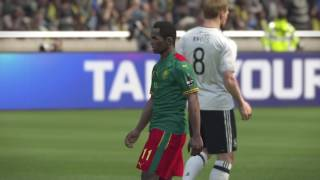 PS4 PES 2017 Gameplay Germany vs Cameroon HD