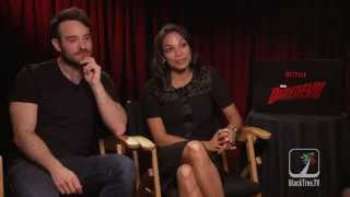 DAREDEVIL Interviews w/ Charlie Cox and Rosario Dawson