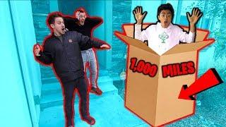 Flying 1,000 Miles to surprise MoreJStu in Cardboard BOX!