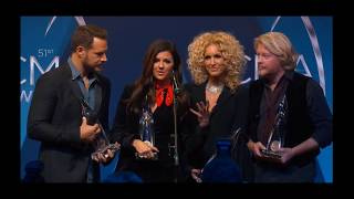 Little Big Town backstage press CMA 2017