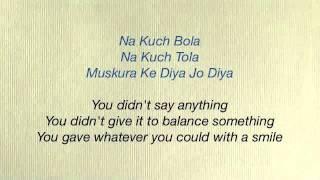 Rab Ne Bana Di Jodi - Tujh Mein Rab Dikhta Hai Lyrics amp Translation