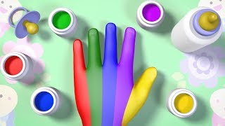 Kids Learn Colors with Finger Family Song for Children Cartoon Video