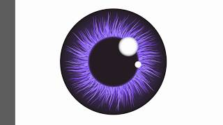 Eye iris pupil - Adobe Illustrator cs6 tutorial. How to draw nice vector illustration.