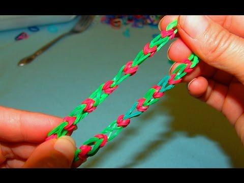Как сделать браслет из резинк