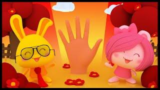 La famille des doigts Titounis - Finger Family Rhyme in French - Méli et Touni