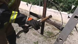 PGD VRHNIKA navijalec cevi; homemade fire hose winder; Schlauchwickler