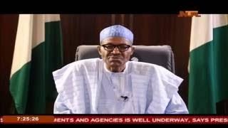 Democracy Day Broadcast By President Muhammadu Buhari 29th May 2016