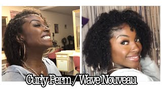 Curly Perm/ Wave Nouveau On 4c transitioned hair