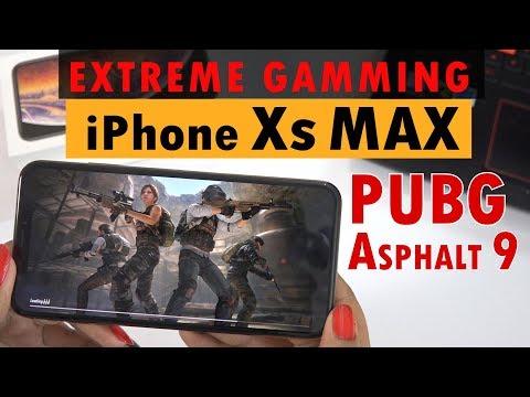 IPHONE Xs MAX Exteme Gaming PUBG & ASPHALT 9