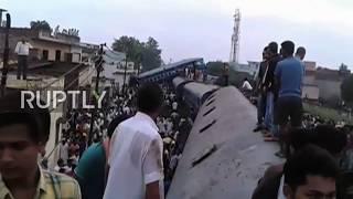 India: Rescue operation underway in Uttar Pradesh after train derailment