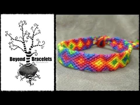 ► Friendship Bracelet Tutorial Beginner Rainbow Arrowhead