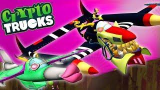 Air Devil VS Peril Reverse Racing | CryptoTruck | Truck Cartoons For Kids