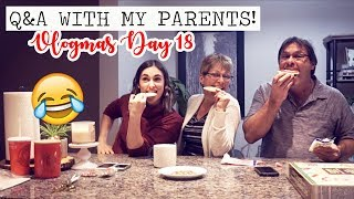 COOKIE DECORATIG Q&A WITH MY PARENTS! || Vlogmas Day 18