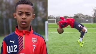 Arsenal FC Wonder Kid! Omari Hutchinson   AMAZING Skills