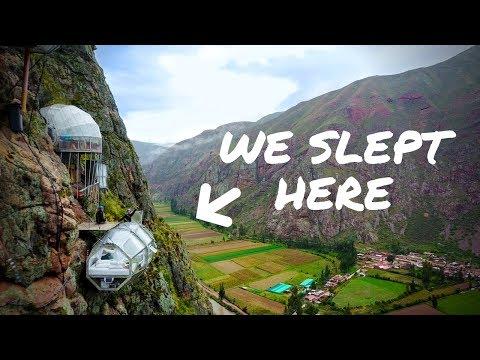 WE SLEPT ON THE SIDE OF A MOUNTAIN Peru Sky Lodge
