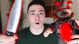 CUTTING OPEN EVIL CHUCKY DOLL AT 3 AM!! (WHAT