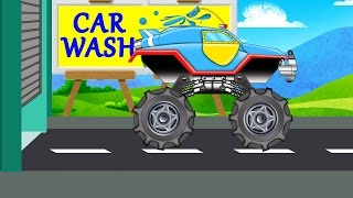 Monster Truck | Car Wash Videos | For Baby & Toddlers