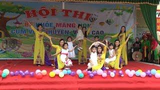 Clip múa Mầm non hạnh phúc - Cô và các cháu trường Mầm non Hoa Hồng