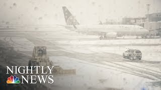 Nor'Easter Causes Travel Cancellations, Frustrating Passengers | NBC Nightly News