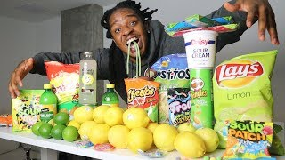 i Only Ate SOUR FOODS For 24 HOURS!!! (Impossible Challenge)