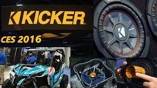 Kicker Booth CES 2016 - Look Inside the L7!!! NEW SUBS & AMPS