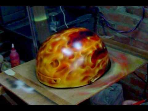 JZ Airbrush Studio True Fire Biker Helmet
