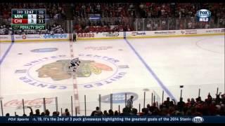 Nino Niederreiter Penalty Shot Goal vs Blackhawks 12/16/14