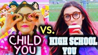 High School You vs. Child You: School