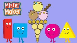 The Shapes Dance: Ice Cream! | Mister Maker
