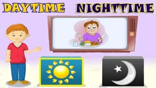 Daytime & Nighttime, Sequence of Events - Quiz for Kids