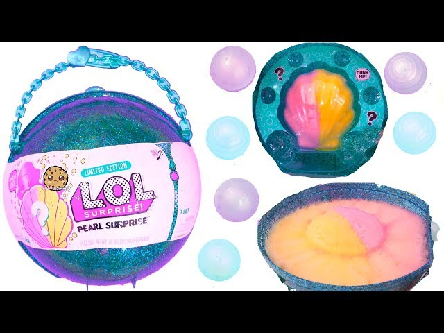 LOL Pearl Surprise Blind Bag Ball with Fizz Shell In Water - Toy Video