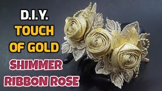 Download D.I.Y. Touch of Gold Shimmer Ribbon Rose | MyInDulzens 3Gp Mp4