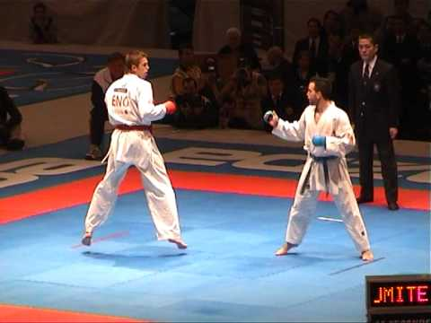 Karate World Championship 2.002 - Final Kumite Team Male- England Vs Spain - Fight 1