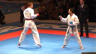 Karate World Championship 2.002 - Final Kumite Team Male- England Vs Spain - Fight 1