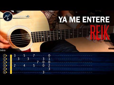 Como tocar Ya Me Entere de REIK en Guitarra Acustica   Tutorial COMPLETO